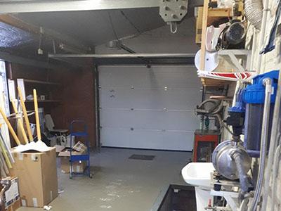 Transformation garage en chambre - avant